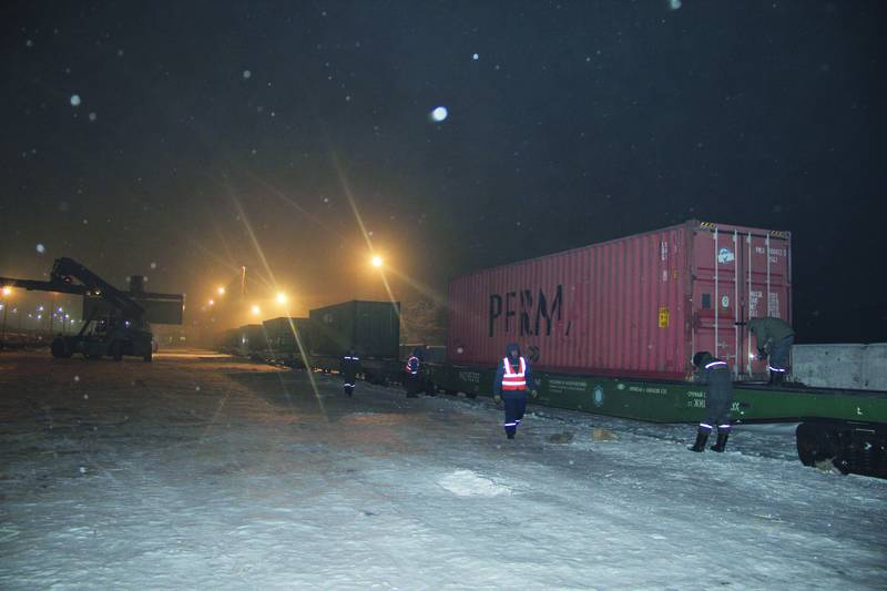 First Container train from China to Iran